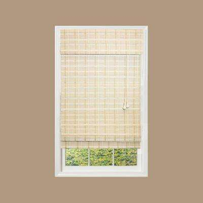 White Washed Reed Weave Roman Shade