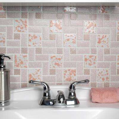 Academy Pink 11-3/4 in. x 11-3/4 in. x 5 mm Porcelain Mosaic Tile