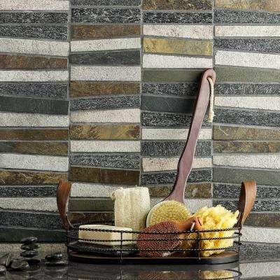 Reflection Trapezoid Multi 11.73 in. x 14.29 in. x 9 mm Quartz Mosaic Tile