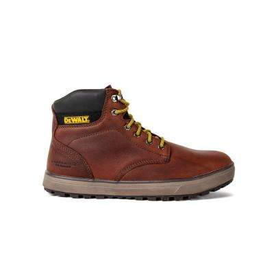 Plasma PT Men's Brown Leather Soft Toe Work Boot