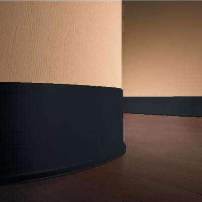 Self-Stick Black 4 in. x 20 ft. x 0.080 in. Vinyl Wall Cove Base Coil