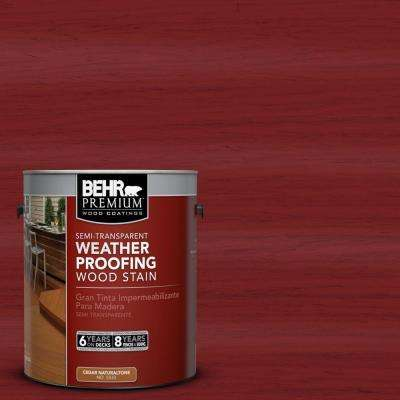 1-gal. #ST-112 Barn Red Semi-Transparent Weatherproofing Wood Stain