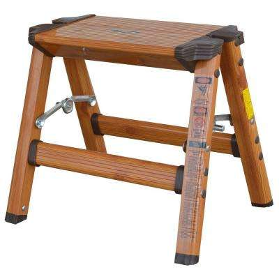 1-Step Aluminum Step Stool with 225 lb. Load Capacity Type II Duty Rating