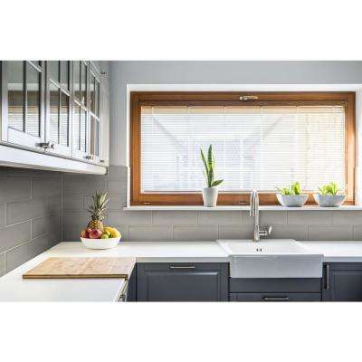 Luster White 4 in. x 12 in. Glossy Glass Wall Tile (1 sq. ft. / pack)