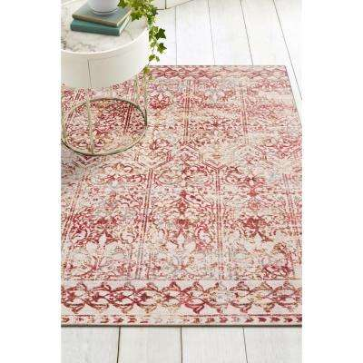 Empire Red Marrakesh 8 ft. x 11 ft. Vintage Area Rug
