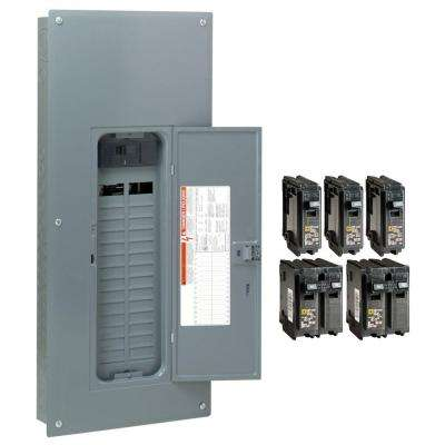 Homeline 200 Amp 30-Space 60-Circuit Indoor Main Plug-On Neutral Breaker Load Center with Cover - Value Pack