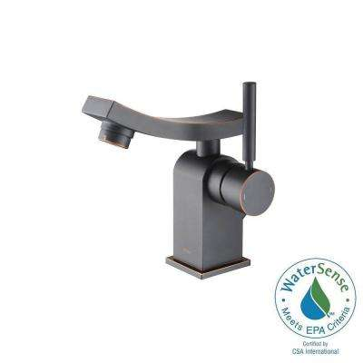 Unicus Single Hole Single-Handle Mid-Arc Bathroom Faucet in Oil Rubbed Bronze