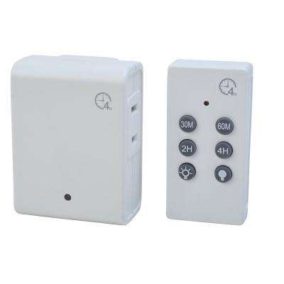 Indoor Wireless Remote Control with Countdown in White