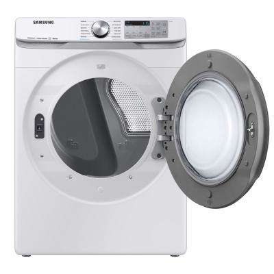 7.5 cu. ft. 120-Volt White Front Load Gas Dryer with Steam Sanitize+ (Pedestals Sold Separately)