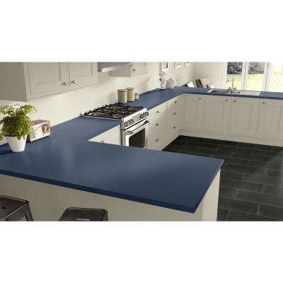 2 in. x 3 in. Laminate Countertop Sample in Brittany Blue with Standard Matte Finish