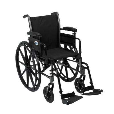 Drive Cruiser III Wheelchair with Removable Flip Back Arms, Adjustable Desk Arms and Swing Away Footrest