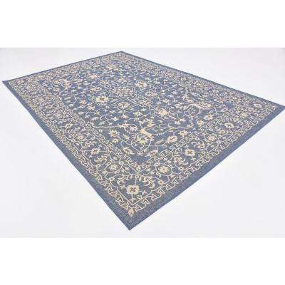 Outdoor Allover Navy Blue 7' 0 x 10' 0 Area Rug