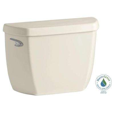 Wellworth Classic 1.28 GPF Single Flush Toilet Tank Only with Class Five Flushing Technology in Almond