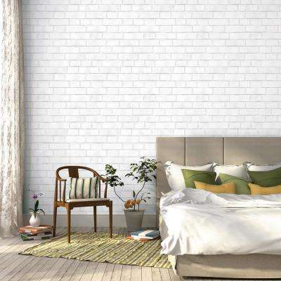Brick Vinyl Peelable Wallpaper (Covers 28 sq. ft.)