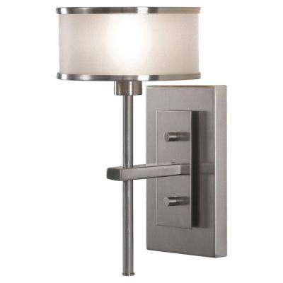 casual luxury 1 light brushed steel sconce