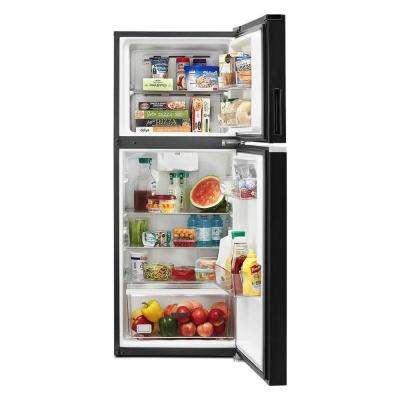 24 in. 11.6 cu. ft. Top Freezer Refrigerator in Black, Counter Depth