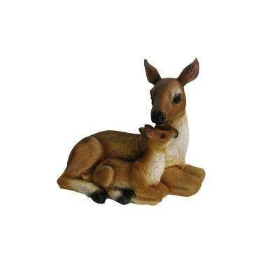 6 in. Deer and Fawn Statue