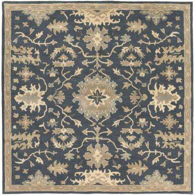 Gilgamesh Navy 8 ft. x 8 ft. Square Indoor Area Rug