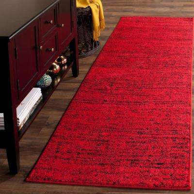 Adirondack Red/Black 3 ft. x 22 ft. Runner Rug