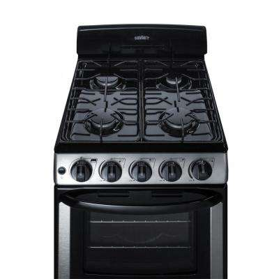 20 in. 2.3 cu. ft. Gas Range in Stainless Steel