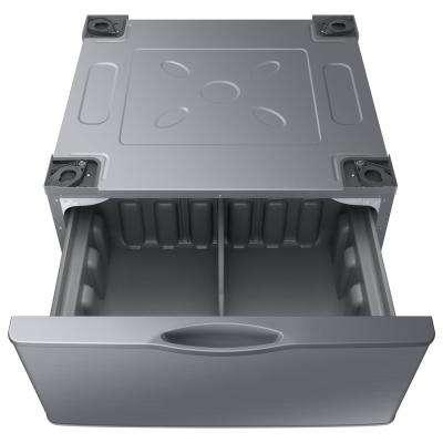 14.2 in. Platinum Laundry Pedestal with Storage Drawer
