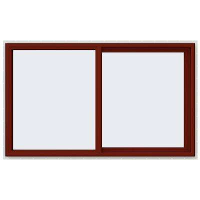 59.5 in. x 35.5 in. V-4500 Series Right-Hand Sliding Vinyl Window - Red