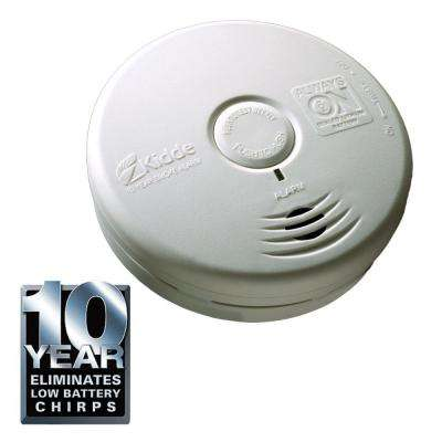 10-Year Sealed Battery Smoke Detector with Photoelectric Sensor (3-pack)