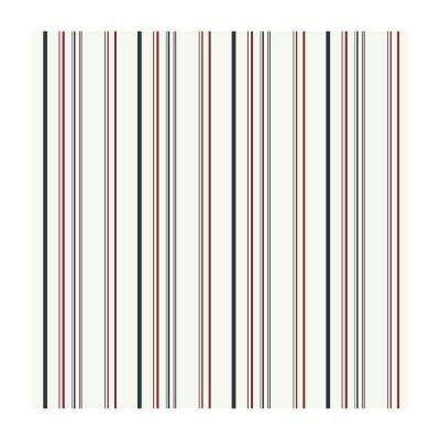 56 sq. ft. Multi-Colored Stripe Wallpaper