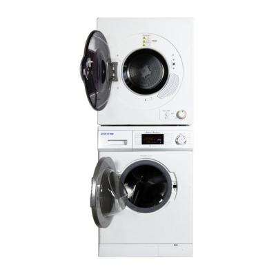 Laundry Center White 1.57 cu. ft. Super Washer and 3.5 cu. ft. Electric Dryer