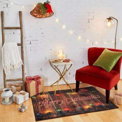 Christmas Lights Multi 2 ft. 6 in. x 4 ft. 2 in. Printed Area Rug