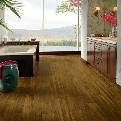 Stratamax Value Plus 12 ft. Width x Custom Length Rustic Mocha Residential Vinyl Sheet Flooring