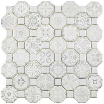 Tessera White 12-1/4 in. x 12-1/4 in. Ceramic Floor and Wall Tile (14.11 sq. ft. / case)