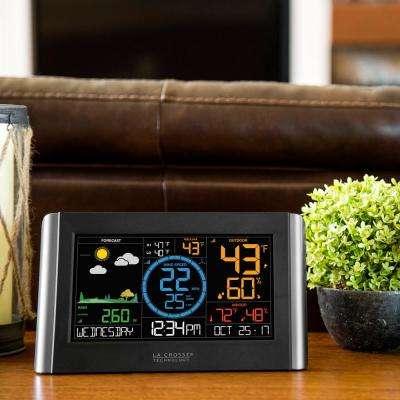 Digital Color WI-FI Professional Weather Station with Wireless Wind and Rain Sensors, Plus Bonus Display