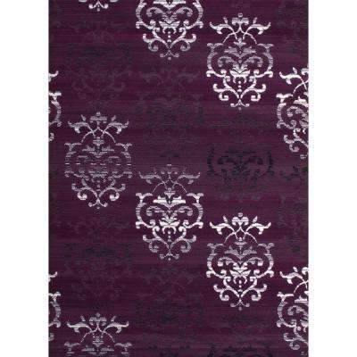 Countess Lilac 5 ft. 3 in. x 7 ft. 2 in. Indoor Area Rug