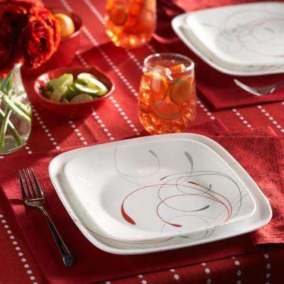 16-Piece Patterned Splendor Glass Dinnerware Set (Service for 4)