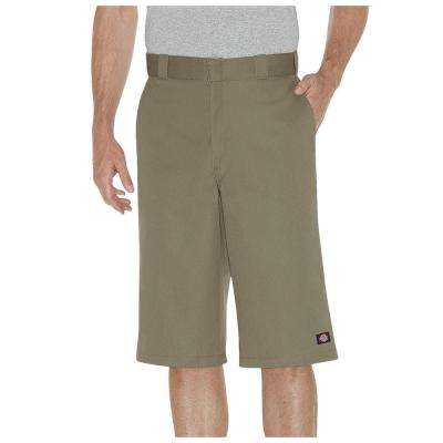 Men's 15 in. Khaki Loose Fit Multi-Use Pocket Work Short Pant