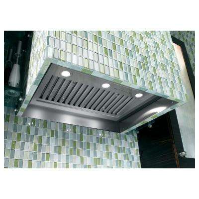 30 in. Insert Range Hood with Light in Stainless Steel