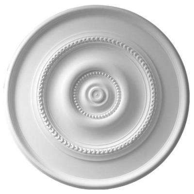 30 in. x 2-3/8 in. Running Rosette and Dots Polyurethane Ceiling Medallion