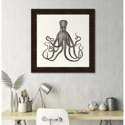 "34 in. x 34 in. ""Octopus"" Framed Giclee Print Wall Art"