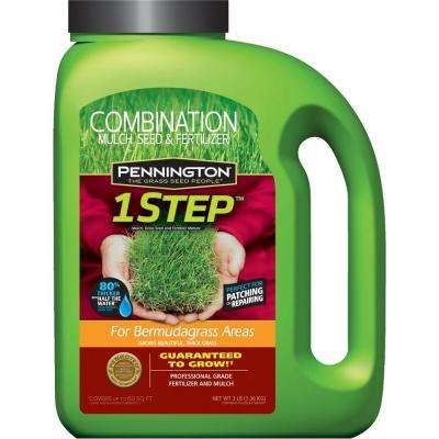 3 lb. 1 Step for Bermudagrass Areas with Grass Seed, Mulch, Fertilizer
