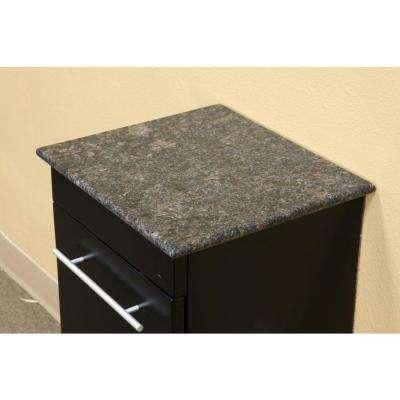 Norwalk 15 in. W x 17 in. H x 14 in. D Solid Wood Side Cabinet in Black