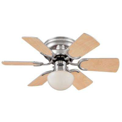 Petite 30 in. Indoor Brushed Nickel Ceiling Fan