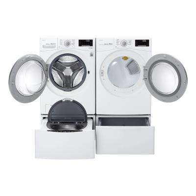 7.4 cu. ft. Stackable Ultra Large Smart Front Load Gas Dryer w/ Sensor Dry, Pedestal Compatible & Wi-Fi Enabled in White