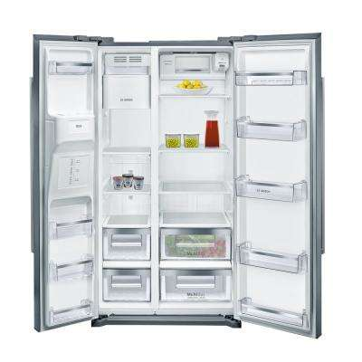 300 Series 36 in. 20.2 cu. ft. Side by Side Refrigerator in Stainless Steel, Counter Depth