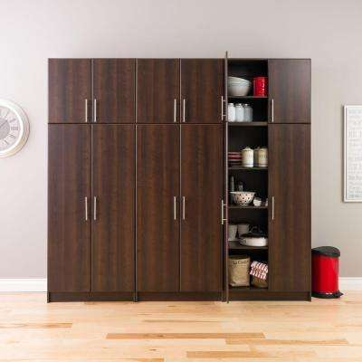 Elite 32 in. w Stackable Composite Wood Wall Cabinet in Espresso