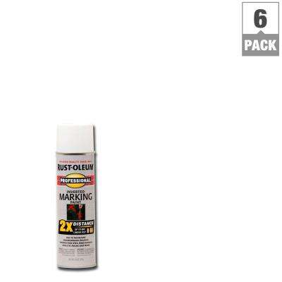 15 oz. 2X White Marking Spray Paint (6-Pack)
