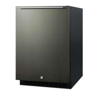 24 in. 4.8 cu. ft. Mini Refrigerator in Black Stainless Steel