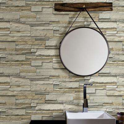 Stone Slate Peel and Stick Wallpaper Roll