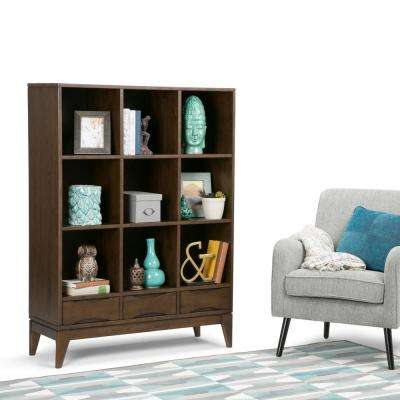 Simpli home bookcases home office furniture the home depot Home decorators collection kelman 3 shelf bookcase in walnut