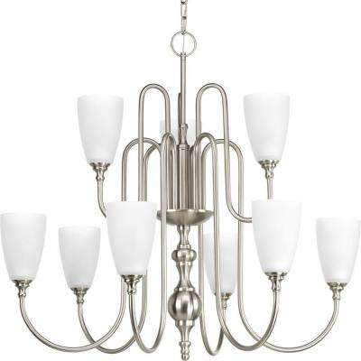 Revive Collection 9-Light Brushed Nickel Chandelier
